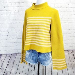 Moth mustard cropped turtle neck sweater like new